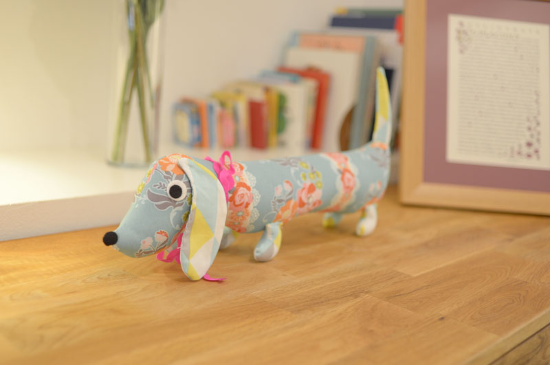 A Dachshund.  Because every little girl needs a sausage dog, right?  Another etsy.com find.