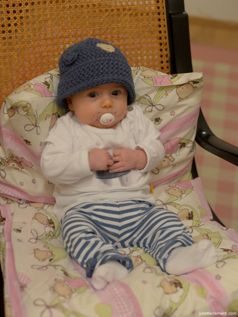 Chilling out in the rocking chair after my bath...