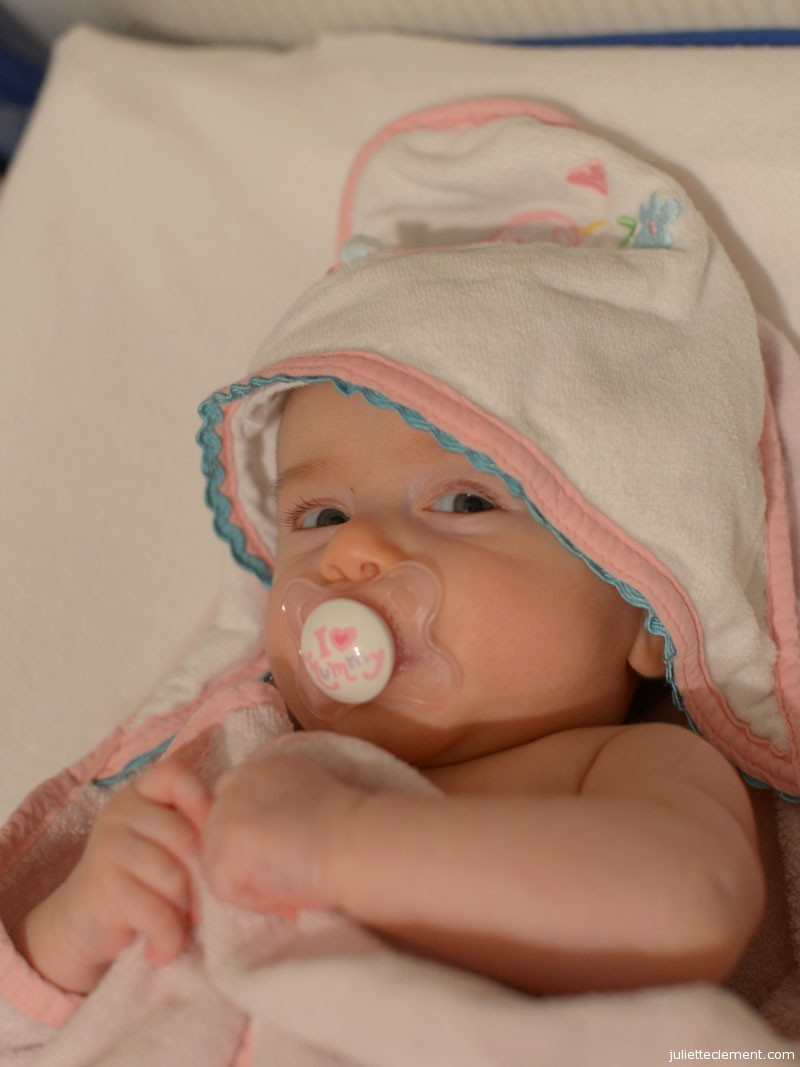 Lounging in her towel after bathtime...