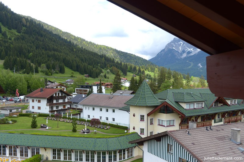 The view from the lounge - Tyrolean mountains