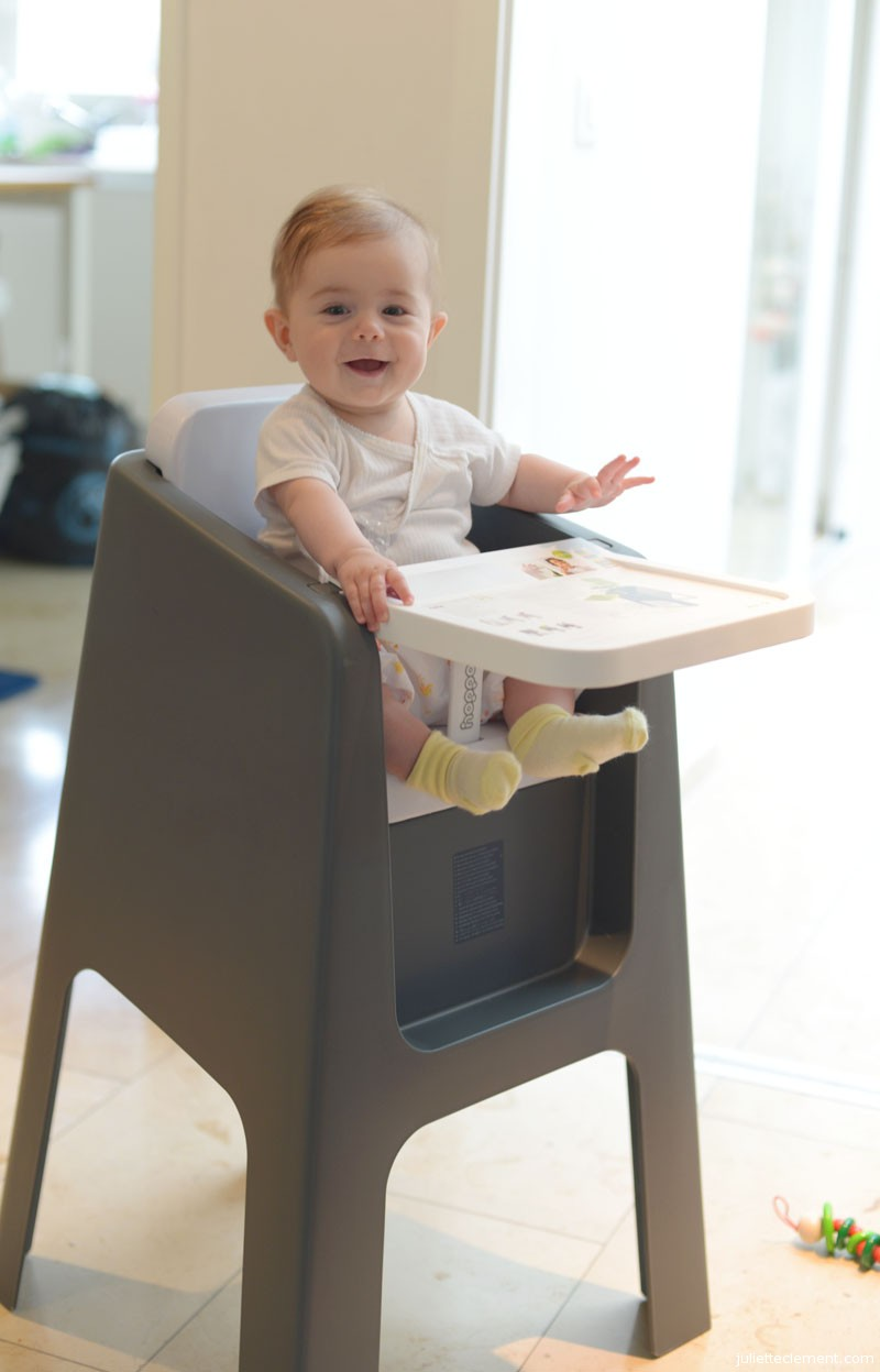 Check out my stylish new high-chair!