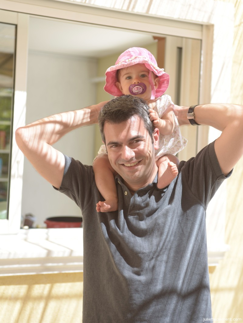 "Riding on Dad's shoulders is the best.  ""Faster, Daddy, Faster!"" wheezed Juliette between giggles."