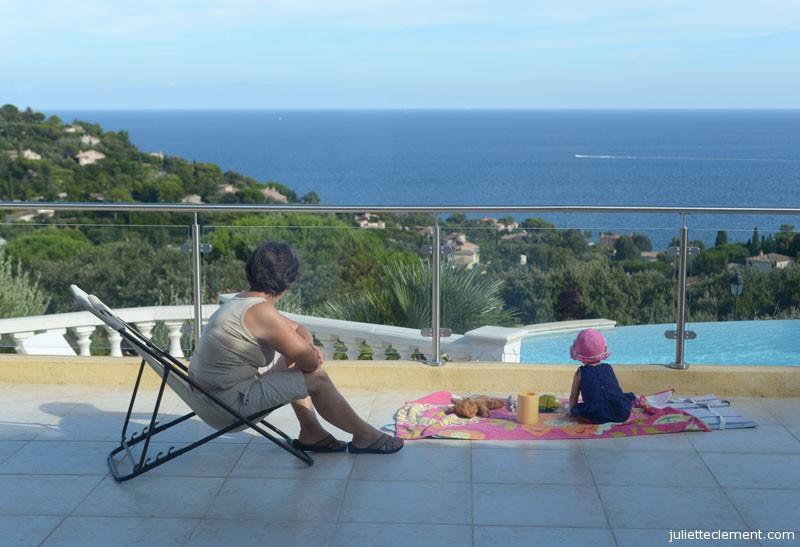 Juliette and Mamie, enjoying a beautiful view