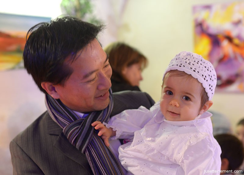 Juliette with Bao after the service