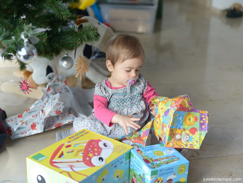 More interested in the wrapping paper than the present.