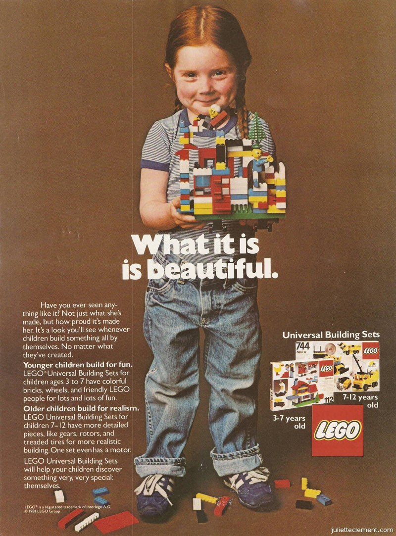 Lego's original ad, from 1981