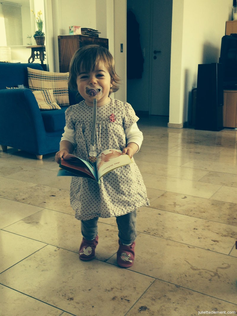 Juliette is very excited about her new book!
