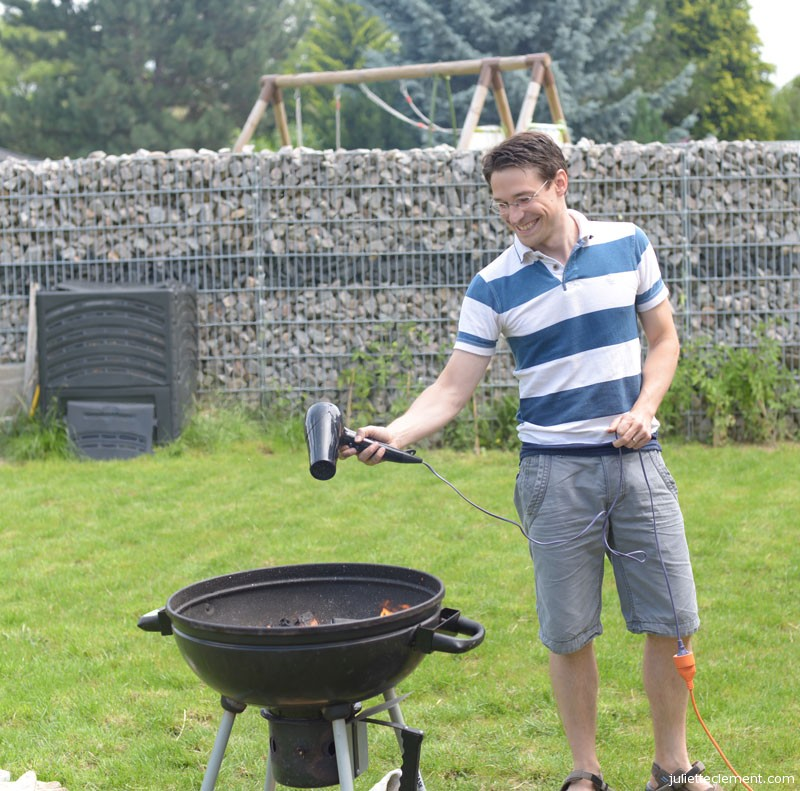 That's a rather unconventional approach to starting a BBQ, Alex...