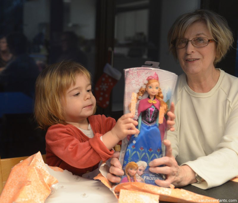 Thanks, Nan, for my wonderful Frozen doll!