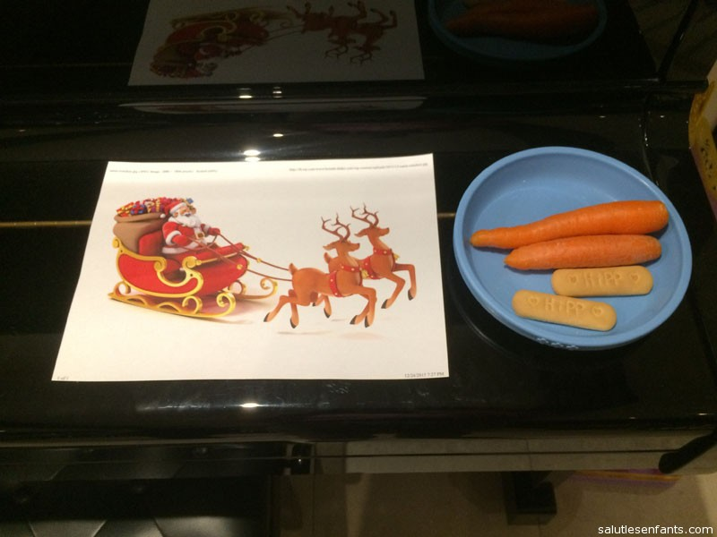 Carrots and cookies for Santa and his reindeer