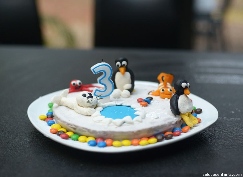 A recreation of Pingu -- Juliette's favorite!