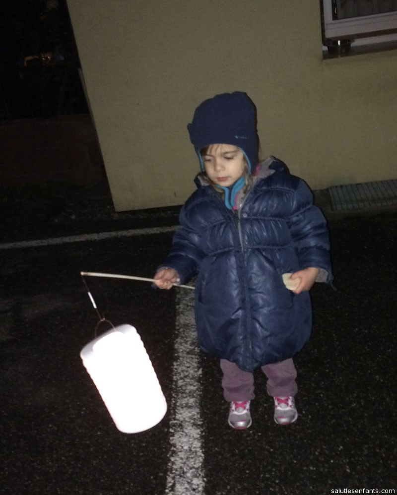 Juliette with her lantern, for the feast of Saint-Nicolas