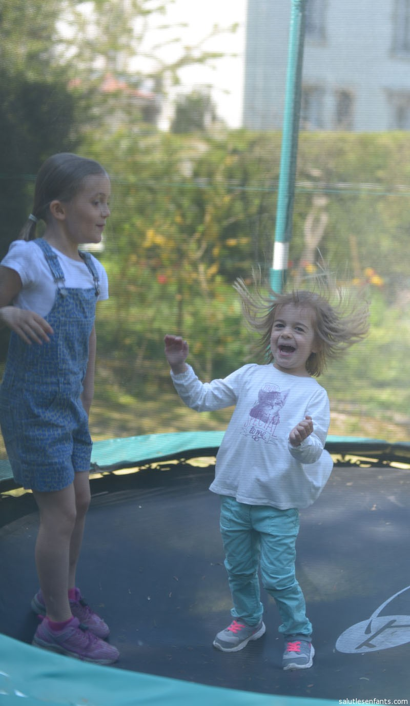 Trampoline.  Holy static electricity, Batman!