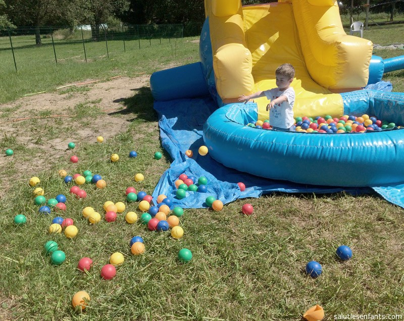 Alex the Destroyer doesn't quite understand the concept of a ball pool