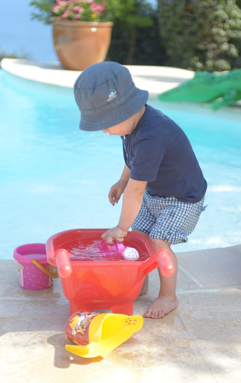 Alex tries to empty the pool, bucket by bucket.