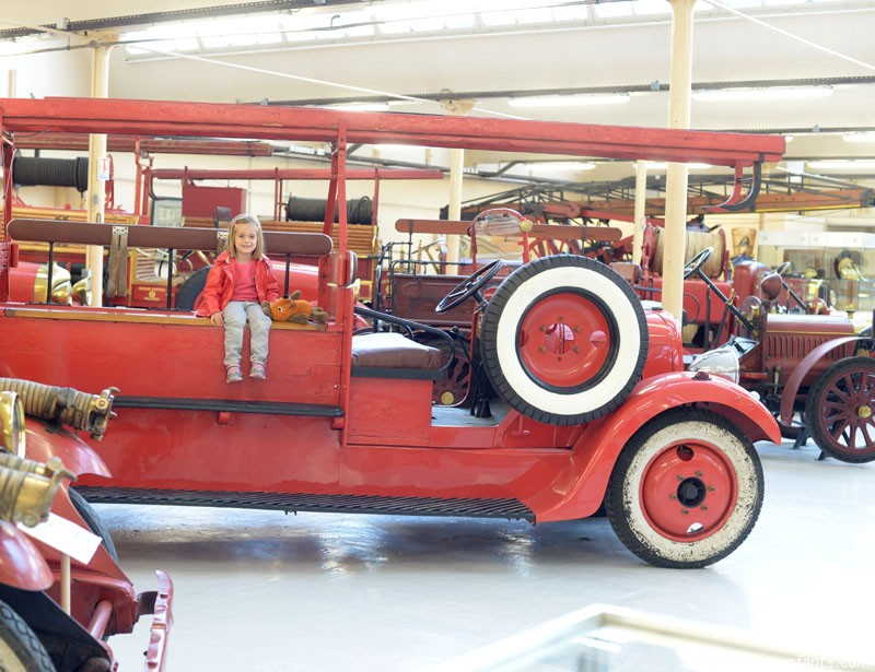 Riding the fire engine